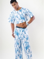 411441 Two Piece Lounge Outfit – Seahorse Print